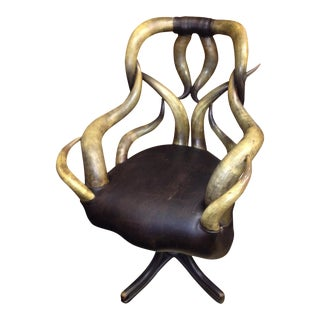 Late 19th Century Wenzel Friedrich Antique Horn Chair For Sale