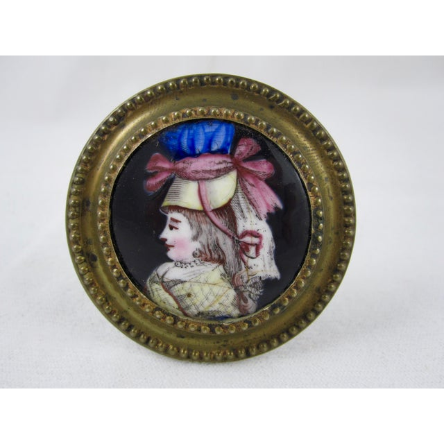 English Traditional 18th Century English Battersea Enamel Curtain Tiebacks- A Pair For Sale - Image 3 of 9
