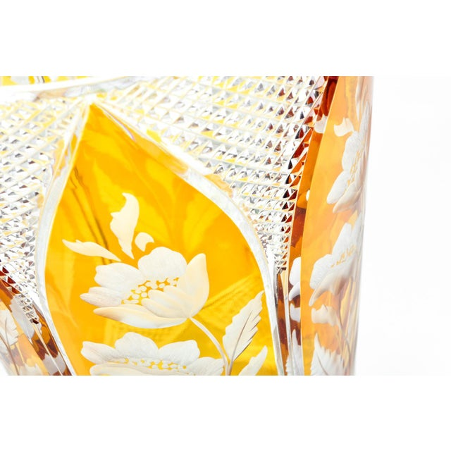 Cut-Crystal Vase For Sale - Image 9 of 11