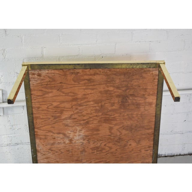 Vintage Hollywood Regency Brass and Capiz Shell Accent Table Attribited to Billy Haines For Sale - Image 11 of 13