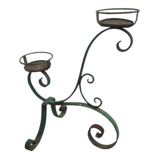 Vintage French Iron Plant Stand For Sale