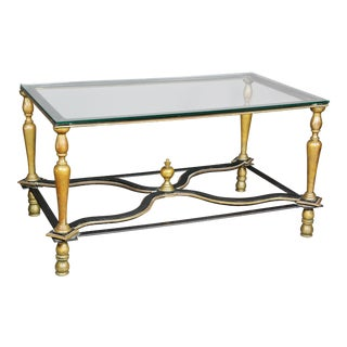 Bronze and Wrought Iron Coffee Table For Sale