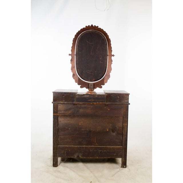 19th Century Victorian Drop Well Marble Top Dresser For Sale - Image 12 of 13