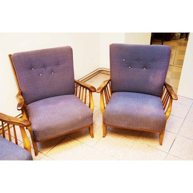 Purple Purple living room set by Hans Wölfl - Set of 3 For Sale - Image 8 of 10