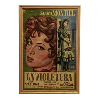 "Circa 1958 ""La Violetera"" Original Release Signed Litho Poster For Sale"