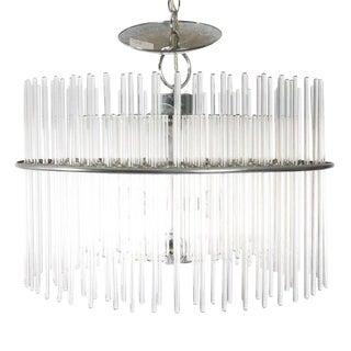 1980s Gaetano Sciolari Glass Rod Chandelier For Sale