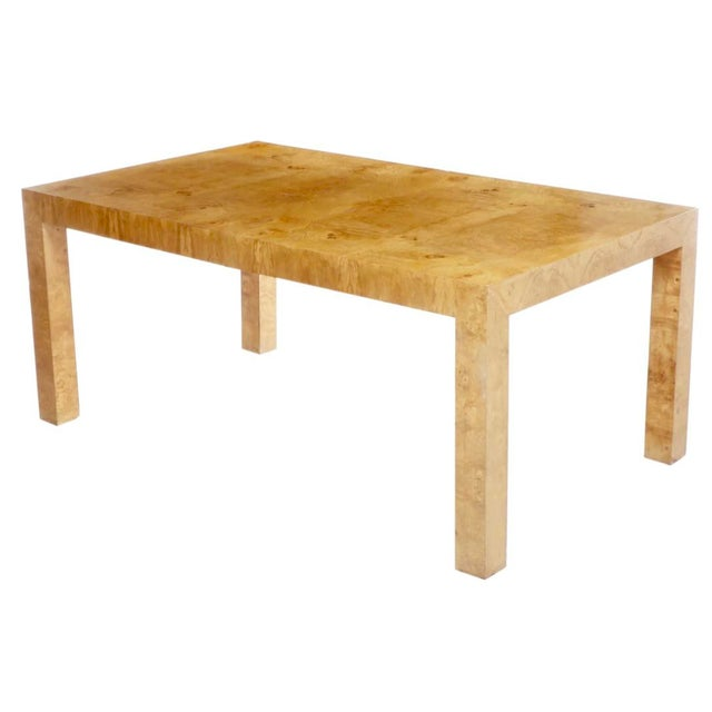 Contemporary 1970s Mid-Century Modern Milo Baughman for Thayer Coggin Burl Dining Table For Sale - Image 3 of 9