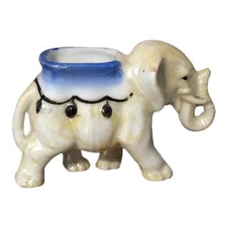 20th Century Figurative Miniature Circus Elephant Match/Toothpick Holder For Sale