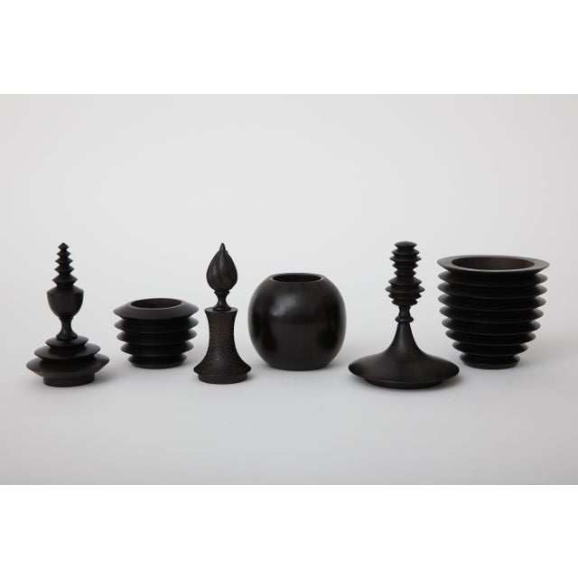 African Carved Boxes - Set of 3 - Image 4 of 4