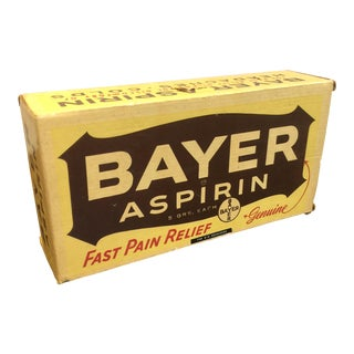 Vintage Bayer Aspirin Advertising Box Pop Art