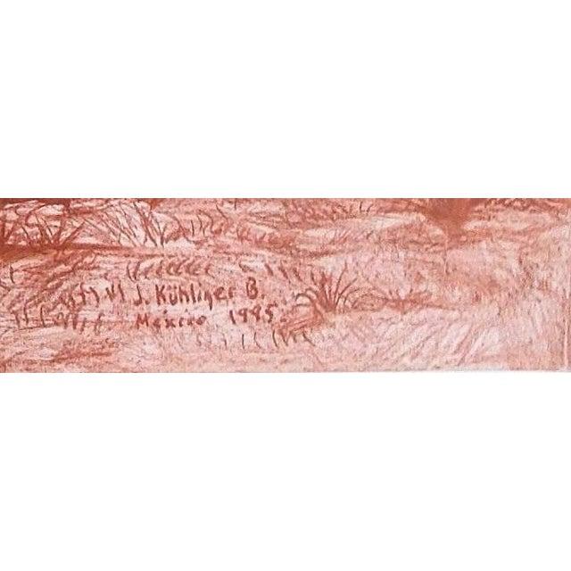 "Figurative Illustration of Mayan Ruins, ""Habitat Maya No.5"" For Sale - Image 3 of 4"