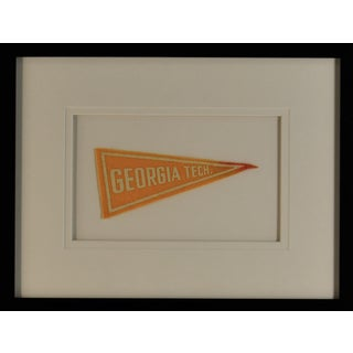 1970s Americana Georgia Tech University Pennant For Sale