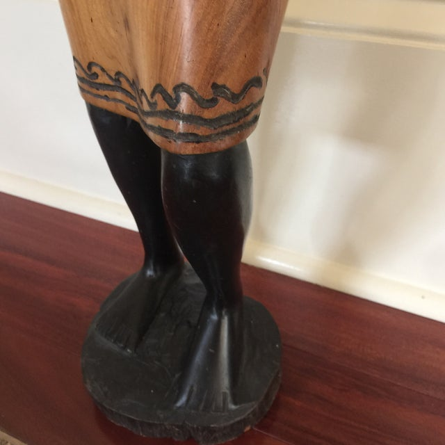 Solid Wood African Mothering Sculpture For Sale - Image 5 of 6