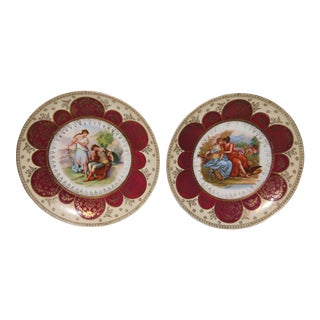 Royal Vienna Beehive Plates - a Pair For Sale