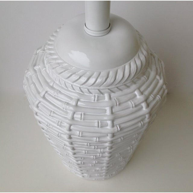 Faux Bamboo Large Bulbous Lamp - Image 6 of 10