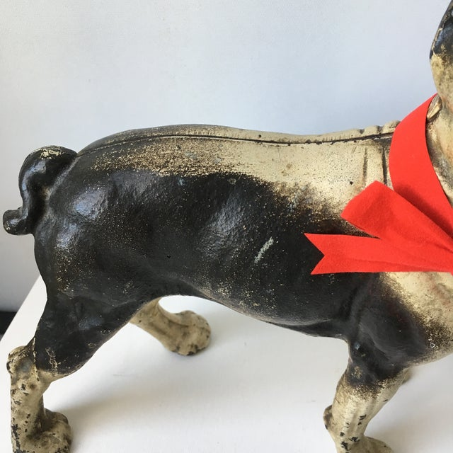 Hubley Manufacturing Company 1900s Antique Hubley Terrier Cast Iron Doorstop For Sale - Image 4 of 9