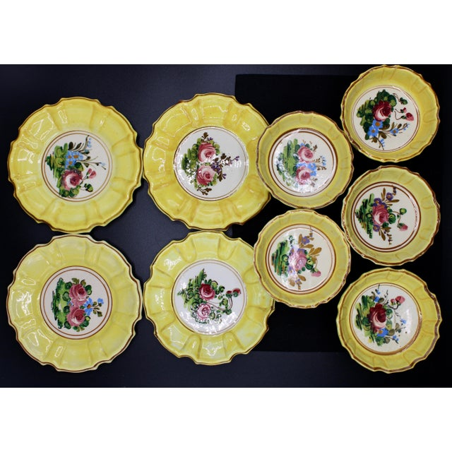 Yellow 1940s Italian Dessert Plates and Compotes For Sale - Image 8 of 10