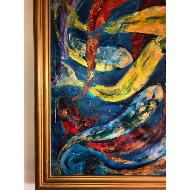 1990s 1990s Koi Fish Painting, Framed For Sale - Image 5 of 9