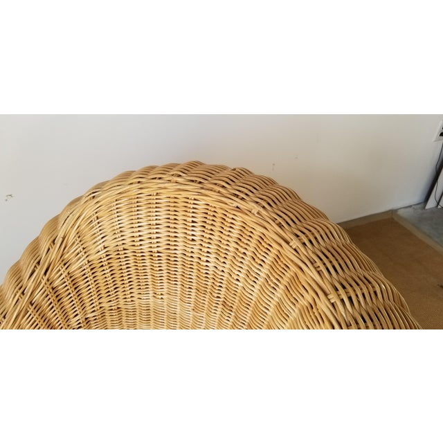 Vintage Woven Wicker Club Chair For Sale - Image 9 of 11