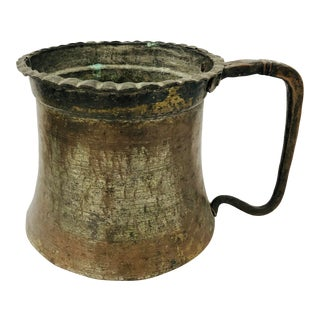 Antique Persian Hammered Copper Vessel For Sale