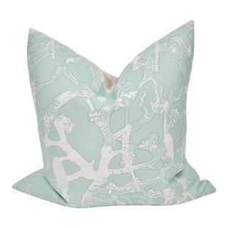 """Isobel """"60 Oaks"""" 25"""" Square Belgian Linen Pillow For Sale"""