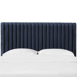 Queen Channel Headboard in Majestic Navy For Sale