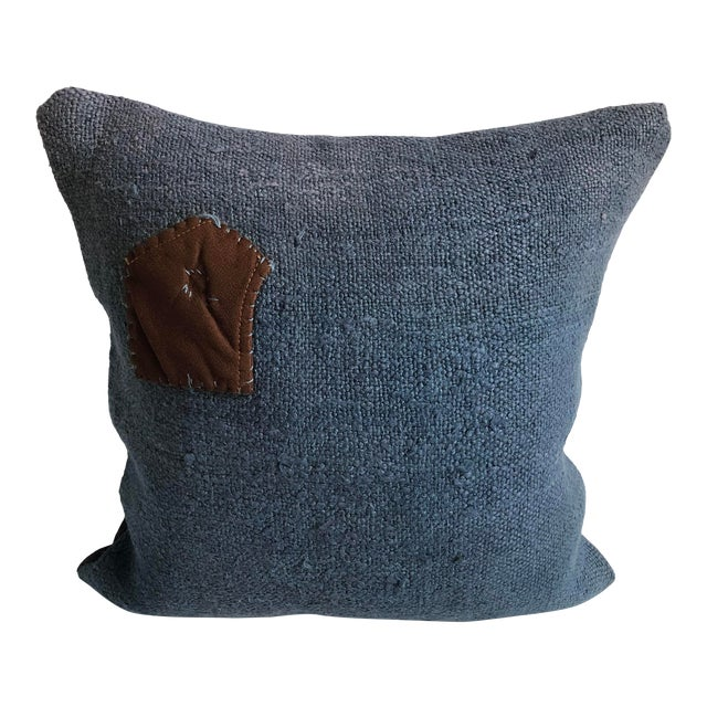 Vintage Turkish Hemp Decorative Sofa Pillow Case For Sale