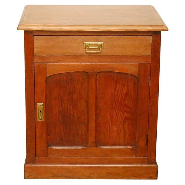 Gold 1910s Traditional Style Pine Cabinet For Sale - Image 8 of 8