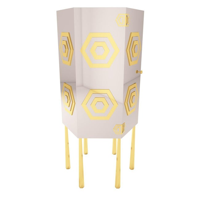 Hex Cabinet by Artist Troy Smith - Contemporary Modern Design - Handmade Furniture - Very Limited Edition. The aptly named...
