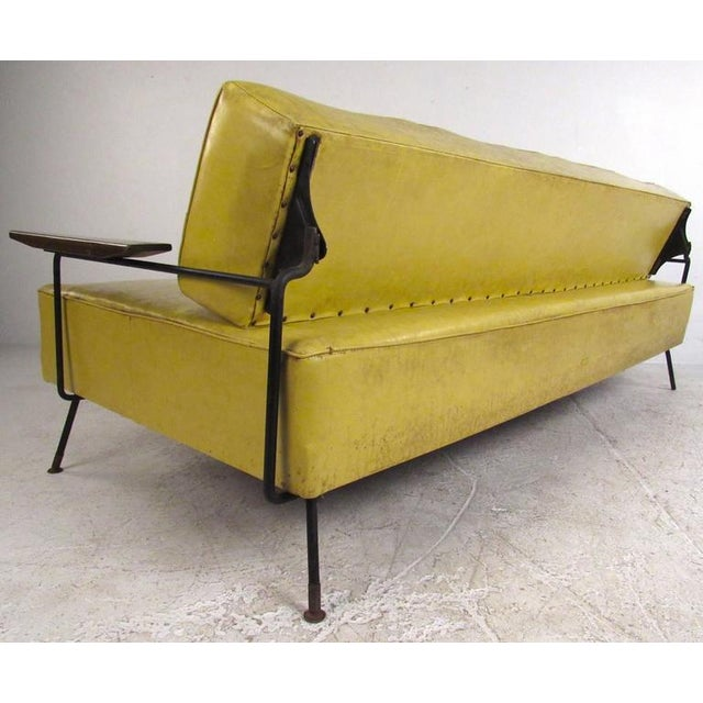 Richard McCarthy for Selrite Mid-Century Vinyl Daybed For Sale - Image 5 of 10