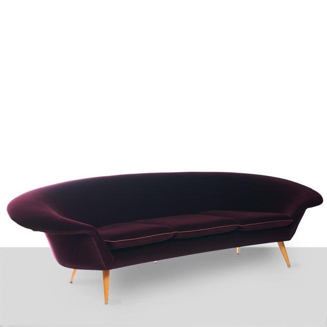 Beech Swedish Three-Seat Sofa Attributed to Kerstin Horlin Holmquist For Sale - Image 7 of 7