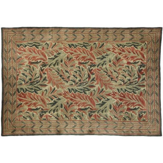 Vintage Swedish William Morris Acanthus Inspired Rug - 5'11 X 8'6 For Sale
