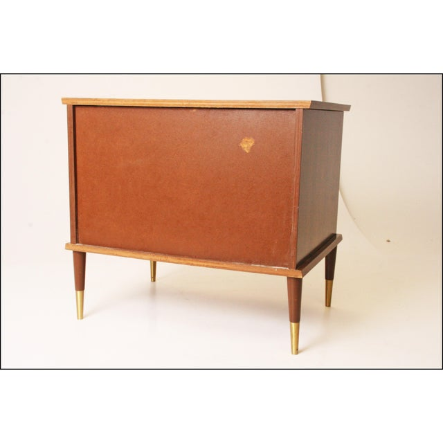 Vintage Mid-Century Modern Record Storage Cabinet For Sale - Image 7 of 11