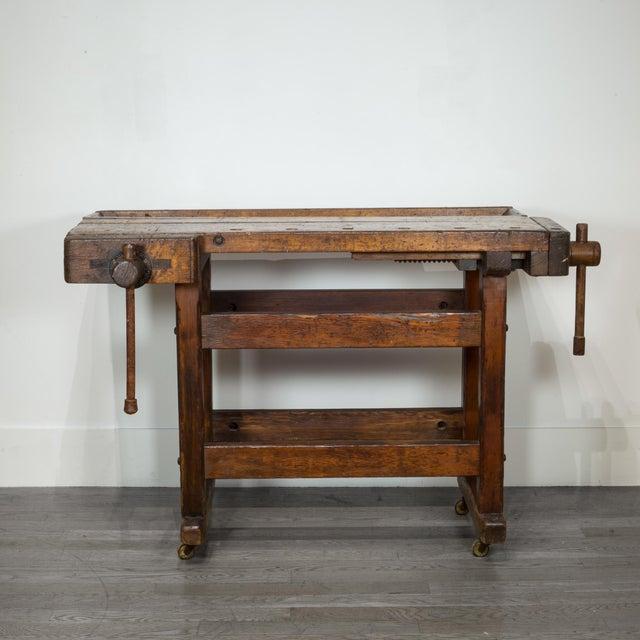 Black Walnut and Douglas Fir American Carpenter's Workbench C.1900 For Sale - Image 11 of 11