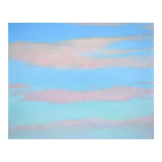 """Layered Clouds"" Contemporary Painting by Stephen Remick For Sale"
