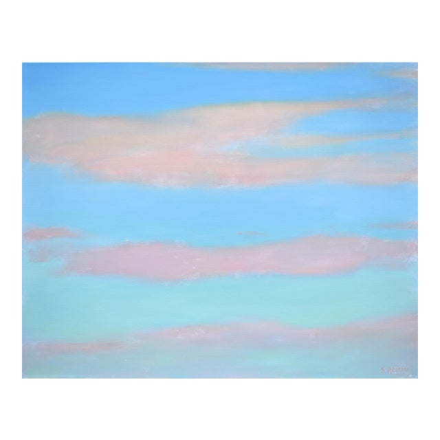 """Modern """"Layered Clouds"""" Contemporary Painting by Stephen Remick For Sale"""