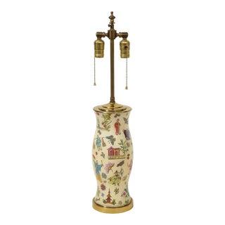 Chinoiserie Verre Églomisé Lamp For Sale