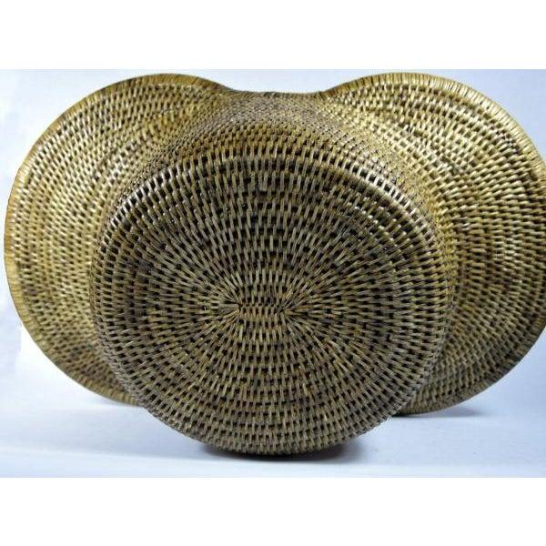 Burmese Hand Woven Hat Basket - Image 10 of 10