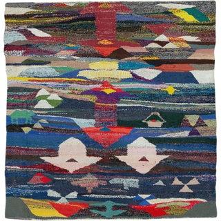 "Vintage Persian Flatweave Kilim Rug – Size: 5' 10"" X 6' 1"" For Sale"