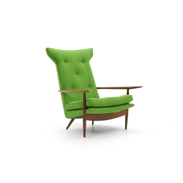 Rare George Nakashima for Widdicomb High Back Lounge Chair and Ottoman - Image 4 of 11