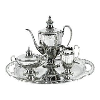 Silver Plate USA Tea Coffee Set For Sale