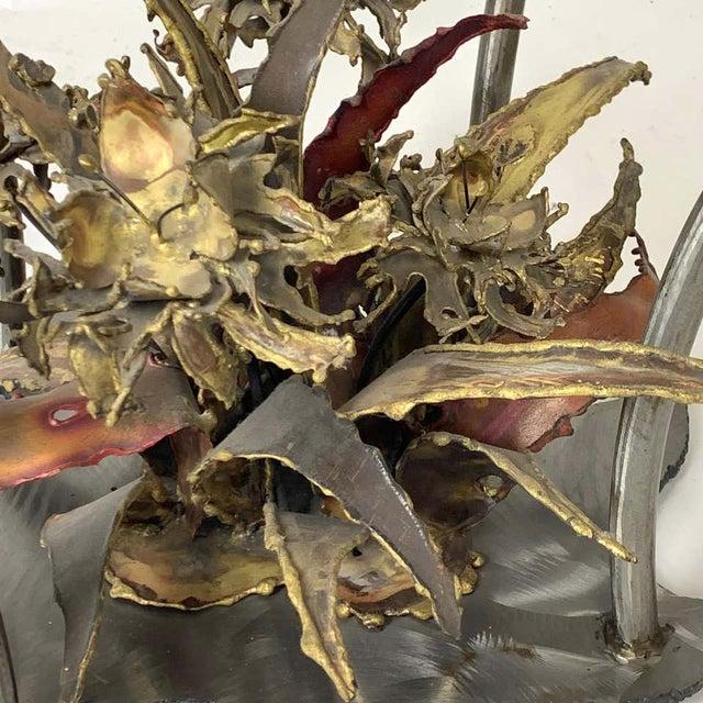 Silas Seandal Studio Brutalist Bloom Welded Bronze, Steel, & Copper Coffee Table For Sale - Image 12 of 13