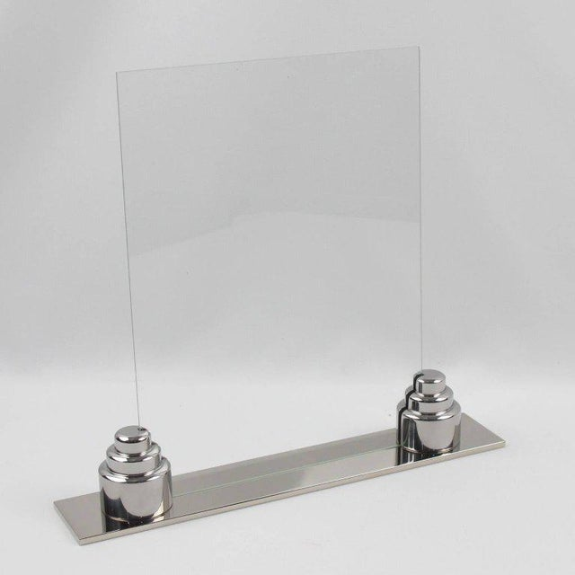 Art Deco Machine Age Chrome Picture Frame - Image 4 of 7