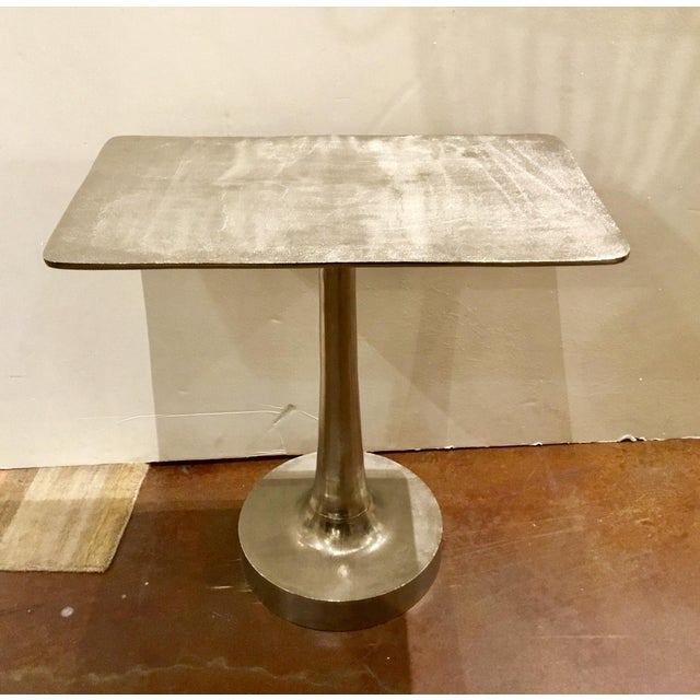 Hollywood Regency Arteriors Bellamy Rectangular Side Table For Sale - Image 3 of 6