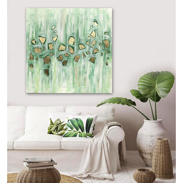 'Viridescence' Original Abstract Painting by Linnea Heide For Sale - Image 4 of 10
