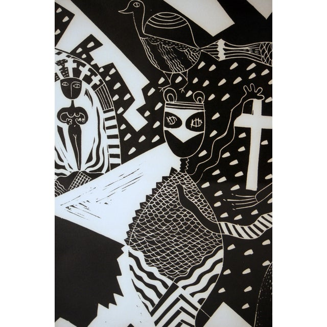 """1980s """"Sanctuary"""" Artist Proof Linocut Print by Susie Ketchum For Sale - Image 5 of 9"""