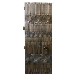 Billy Joe Mccarroll and David Gillespe Brutalist Bronze Door with Custom Handle For Sale