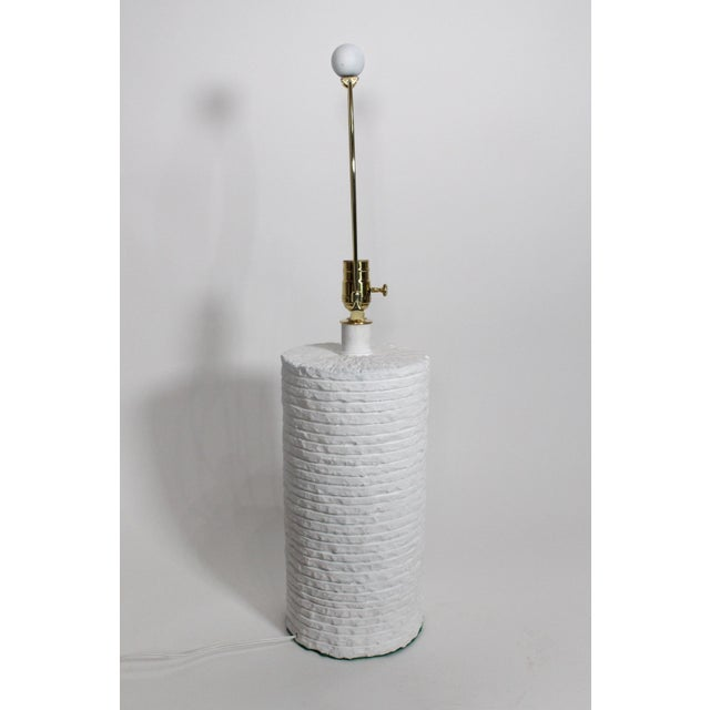 Sirmos Sculptural Mid-Century Gesso Covered Plaster Sirmos Style Stacked Stone Restored & Rewired For Sale - Image 4 of 10
