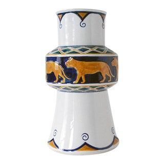 Antique Rörstrand Jugendstil Faience Vase by Alf Wallander For Sale