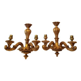 Giltwood Wall Sconces For Sale